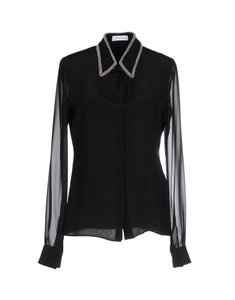 CoSTUME NATIONAL Classy Chick Silk Stylish Shirt Top Black