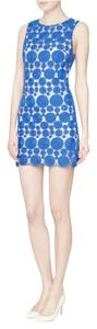 Alice + Olivia short dress blue Trendy Shift Not In Stores Woven on Tradesy