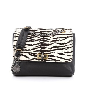 Lanvin Happy Pony Hair Leather Shoulder Bag