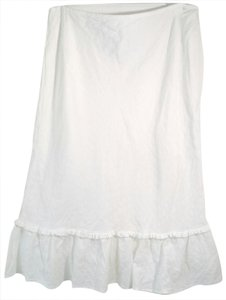 Jones New York Boho Beach 12 Skirt White