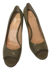 Cole Haan Peep Toe Summer Patent Pum Pale Green Pumps