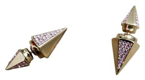Vita Fede Double Titan Thea earring with pink crystals