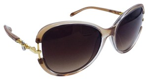 Tiffany & Co. Signature Chain Gold Lock Brown Round Sunglasses TF 4067 8147/3B