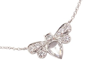 Tiffany & Co. Tiffany & Co Enchant Platinum 0.81ct Diamond Garden Bee Necklace w/box