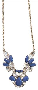 J.Crew J. Crew Blue & Crystal Statement Necklace
