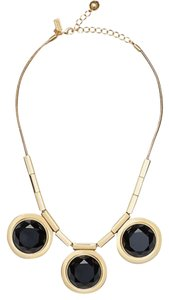 Kate Spade NWT KATE SPADE POLISH UP NECKLACE W BAG $178 GOLD BLACK