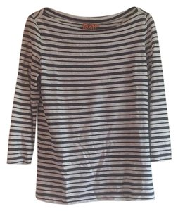 Tory Burch T Shirt navy and cream stripes
