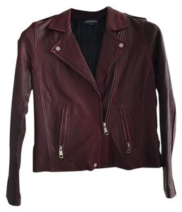 Tommy Hilfiger Burgundy Leather Jacket