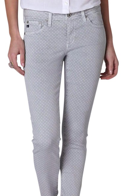 Item - Gray with Polka Dots Stevie Ankle Crop Pants Size 2 (XS, 26)