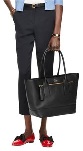Kate Spade Pebbled Leather Classic Staple Investment Piece Tote in Black