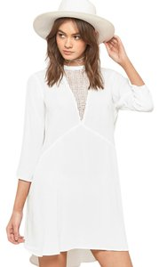 Amuse Society short dress Casa Blanca Good Vibes White Lace on Tradesy