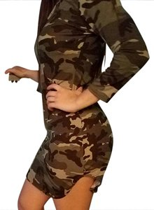 Other short dress Army Print on Tradesy