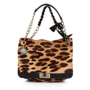 Lanvin Happy Pony Hair Shoulder Bag