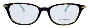 Tiffany & Co. Pearl Square Tortoise and Gold Eyeglasses TF 2096-H 52