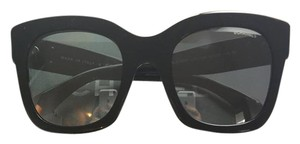 Chanel Chanel Square Signature Sunglass (Black frame, Black mirror lenses)