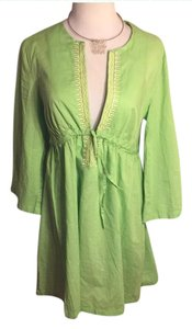 Talbots short dress Celery green/White on Tradesy