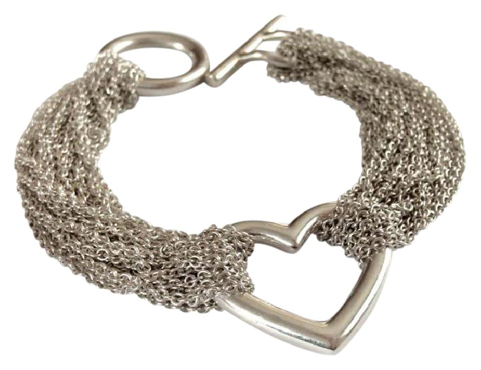 f7a0b5b3f9901 Tiffany & Co. Sterling Silver Multi Chain Heart with Toggle Clasp Bracelet  63% off retail
