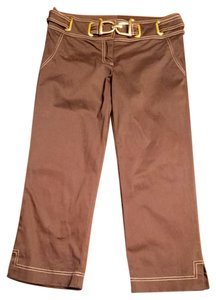 Cache Capris Dark brown and gold