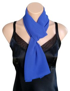 Other Royal Blue Chiffon Scarf