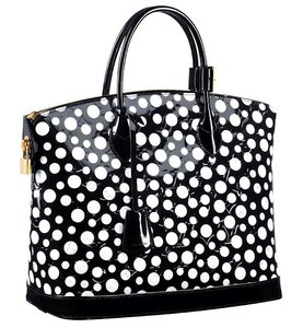 Louis Vuitton Lv Lockit Mm Kusama Tote Shoulder Bag