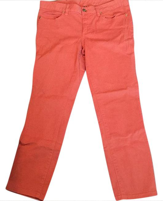 Item - Coral Light Wash Skinny Capri/Cropped Jeans Size 30 (6, M)