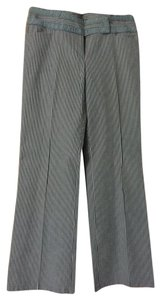 Nanette Lepore Striped Size 6 Straight Pants Gray