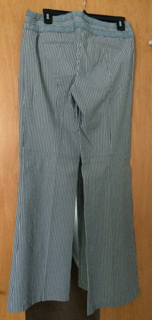 Nanette Lepore Striped Size 6 Straight Pants Gray Image 1