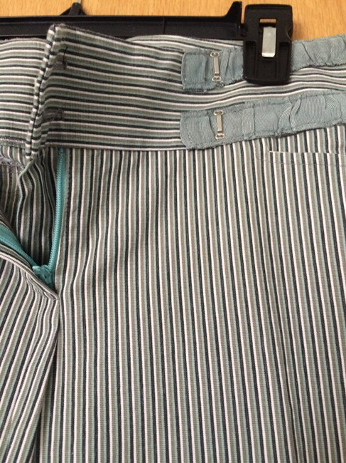 Nanette Lepore Striped Size 6 Straight Pants Gray Image 2