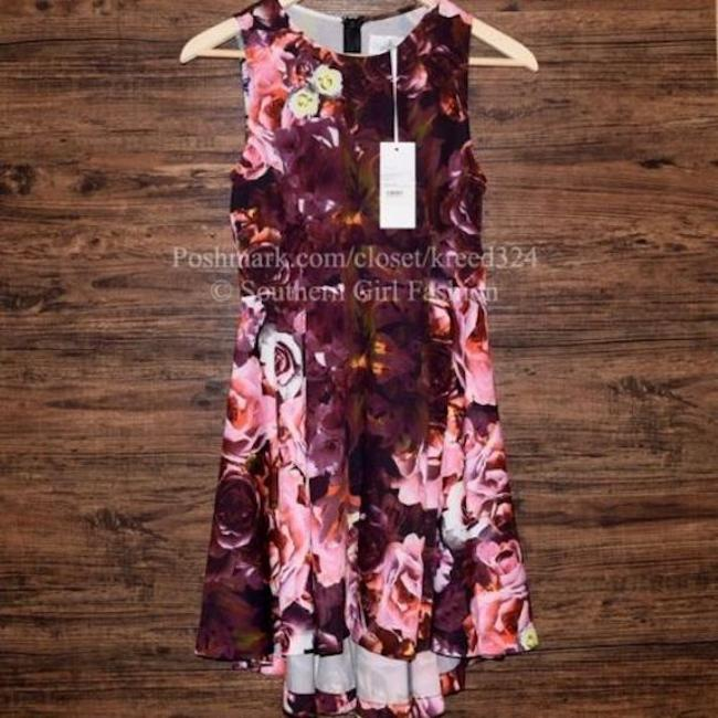 shakuhachi short dress Pink Floral Printed Fit And Flare on Tradesy Image 2