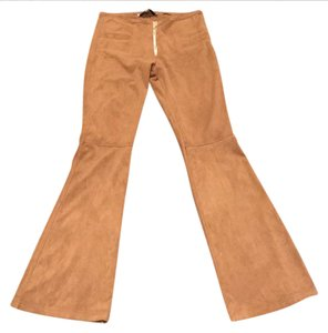 Jeff Gallano Boot Cut Pants tan