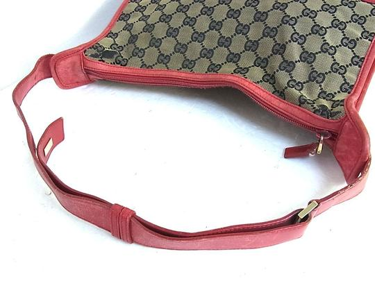 Gucci Large Print Reds Excellent Condition Great For Everyday Perfect Pop Of Color Hobo Bag Image 1