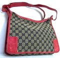 Gucci Large Print Reds Excellent Condition Great For Everyday Perfect Pop Of Color Hobo Bag Image 6