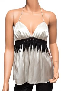 Ingwa Melero 52 Ccst Bf Beaded Silver Halter Top