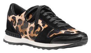 Coach Sneaker Leather Leopard and Black Athletic