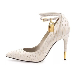 Tom Ford Ivory and Metallic Pumps