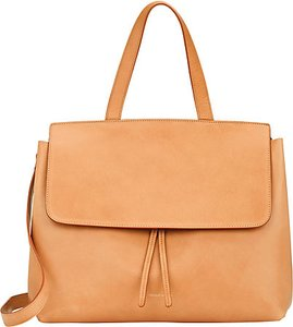 Mansur Gavriel Lady Leather Satchel in tan