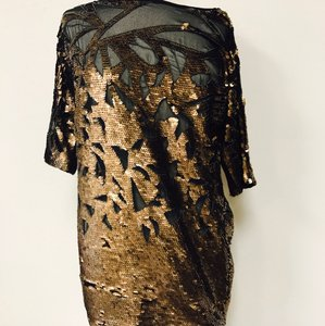 French Connection Sequin Bronze Gold Dress