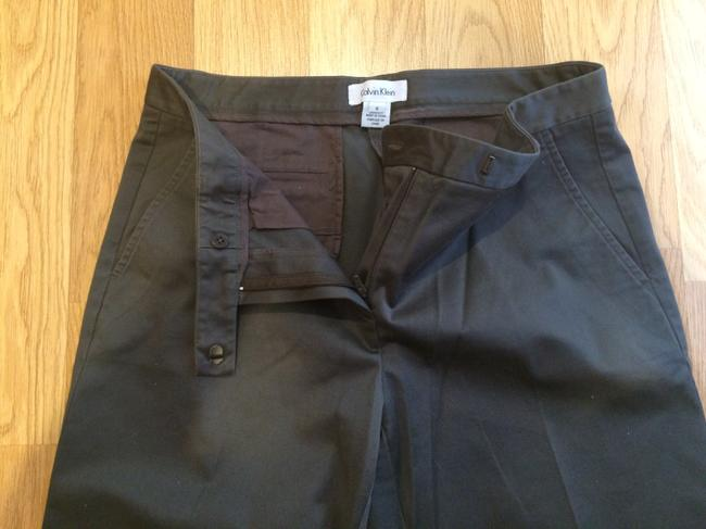 Calvin Klein Brown 42 Inches Size 6 Pants Image 4