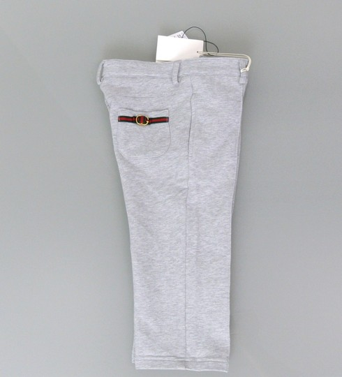 Gucci Gray W New Kids Pants W/Grg Web Metal Interlocking G 10 281752 Groomsman Gift Image 3