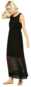 Black Maxi Dress by Vero Moda Boho Lace