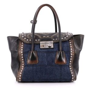 Prada Denim Tote in Blue