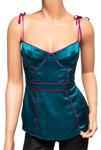 Ingwa Melero Charmeuse Nwt Bustier Sexy Magenta Top Teal