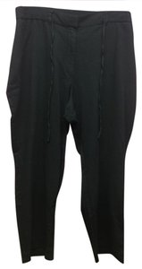 Talbots Elastic Waistband Dress Casual New Baggy Pants Black