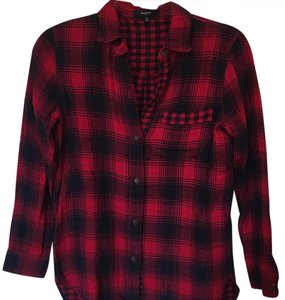 Madewell Button Down Shirt Red/navy