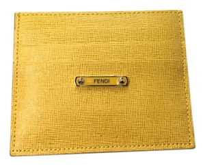 Fendi Yellow Fendi Card Case Crayon Collection