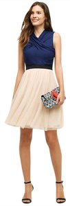 Anthropologie short dress Blue with Off White Tulle Ballerina on Tradesy
