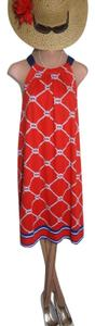 Mudpie short dress RED NAUTICAL ROPE PRINT Lovely Up Or Down Almost Brand New To Sell on Tradesy