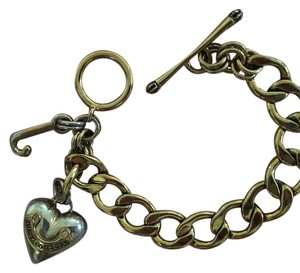 Juicy Couture juicy couture gold heart charm bracelet