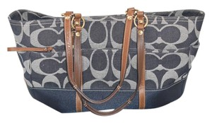 Coach Signature Denim Blue Face Blue Denim Diaper Bag