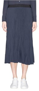 Elizabeth and James Crinkled Crepe Skirt Navy